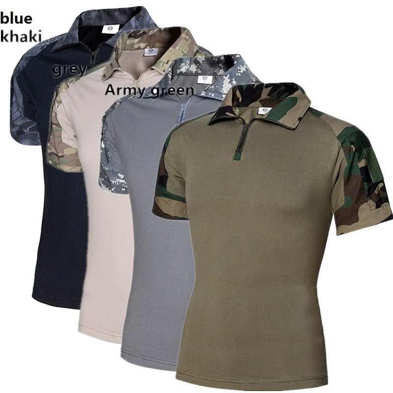 ZOGAA Wew 暴行迷彩タクティカル T シャツ男性半袖米軍カエル戦闘 Tシャツ夏マルチカム軍の Tシャツ