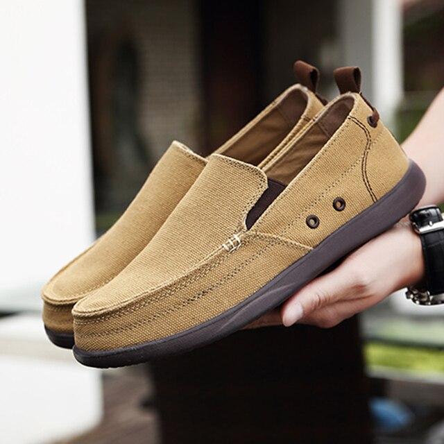 UPUPER לנשימה נעליים יומיומיות גברים בד נעלי 2020 קל משקל עצלנים גברים נעלי נהיגה דירות הליכה סניקרס גברים