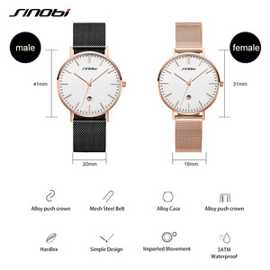 Image 5 - Sinobi ファッションゴールデン女性のダイヤモンド腕時計トップの高級ブランド女性ジュネーブクォーツ時計女性のブレスレット腕時計