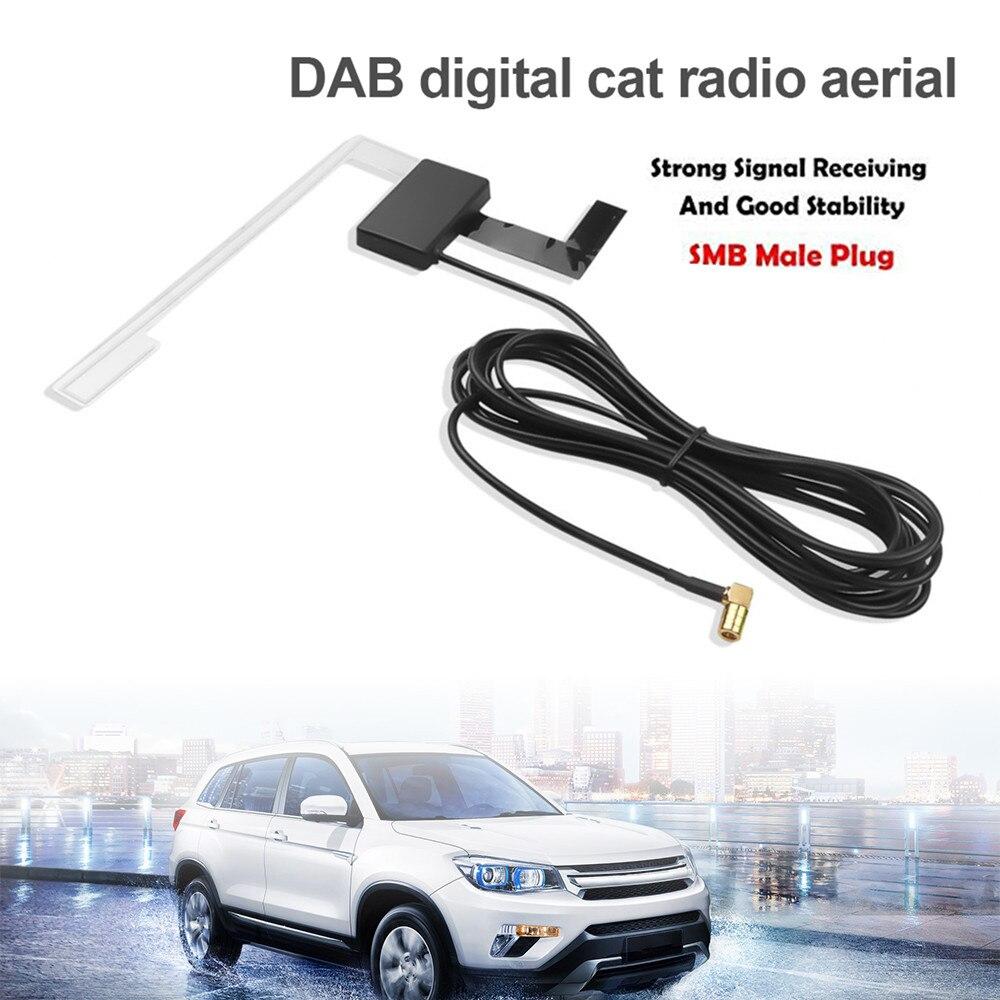 Автомобильный радиоприемник DAB/DAB + антенна для установки на лобовое стекло SMB штепсельная вилка прием сигнала Европейская DAB + приемник сигн...