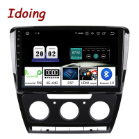 Idoing 10.2Android For SkodaOctavia 2 A5 2008 2013 Car Radio Multimedia Video Player Navigation GPS Accessories Sedan No dvd