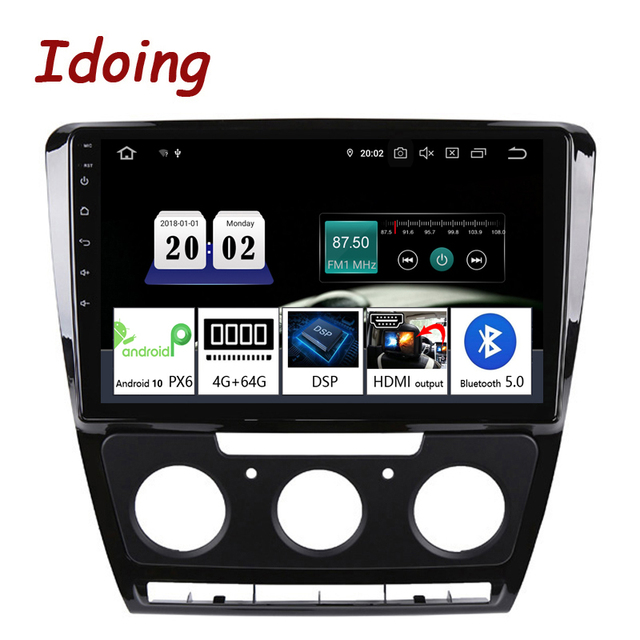 """Idoing 10.2""""Android For SkodaOctavia 2 A5 2008 2013 Car Radio Multimedia Video Player Navigation GPS Accessories Sedan No dvd"""