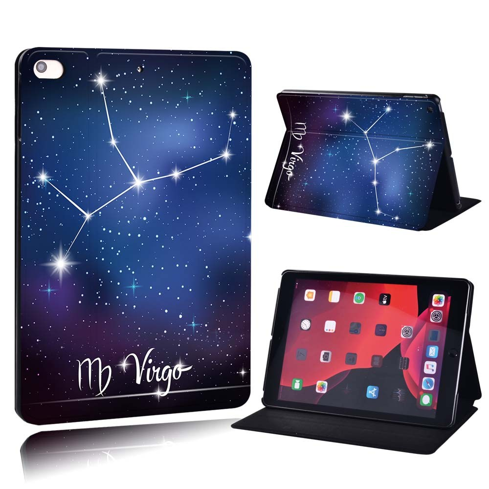 star sign - Virgo Purple For Apple iPad 8 10 2 2020 8th 8 Generation A2428 A2429 PU Printed Star Sign