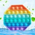 Толкать ее поп-Непоседа Reliver стресс игрушки с радужной расцветкой снять Спиннер для людей с аутизмом игрушки поп-пузырь антистресс игрушки ...