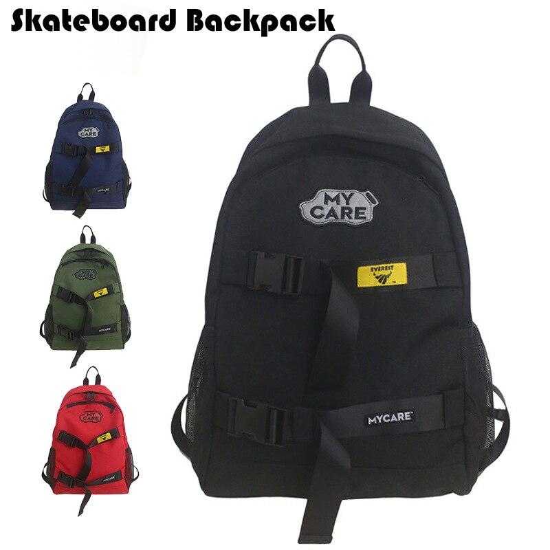 Double Rocker Skateboard Backpack Oxford Portable Skating Board Deck Bag Boy Girl Large Capacity Longboard Backpack Skate Bags