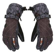 Утепленные зимние холодной погоды лыжные перчатки для взрослых согреться Водонепроницаемый ветрозащитный#4O10