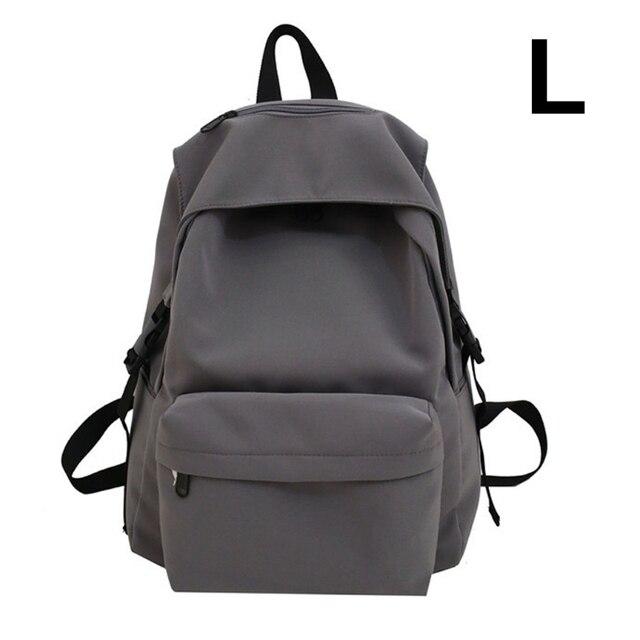 нейлоновый рюкзак унисекс однотонный дорожный портфель для подростков фотография