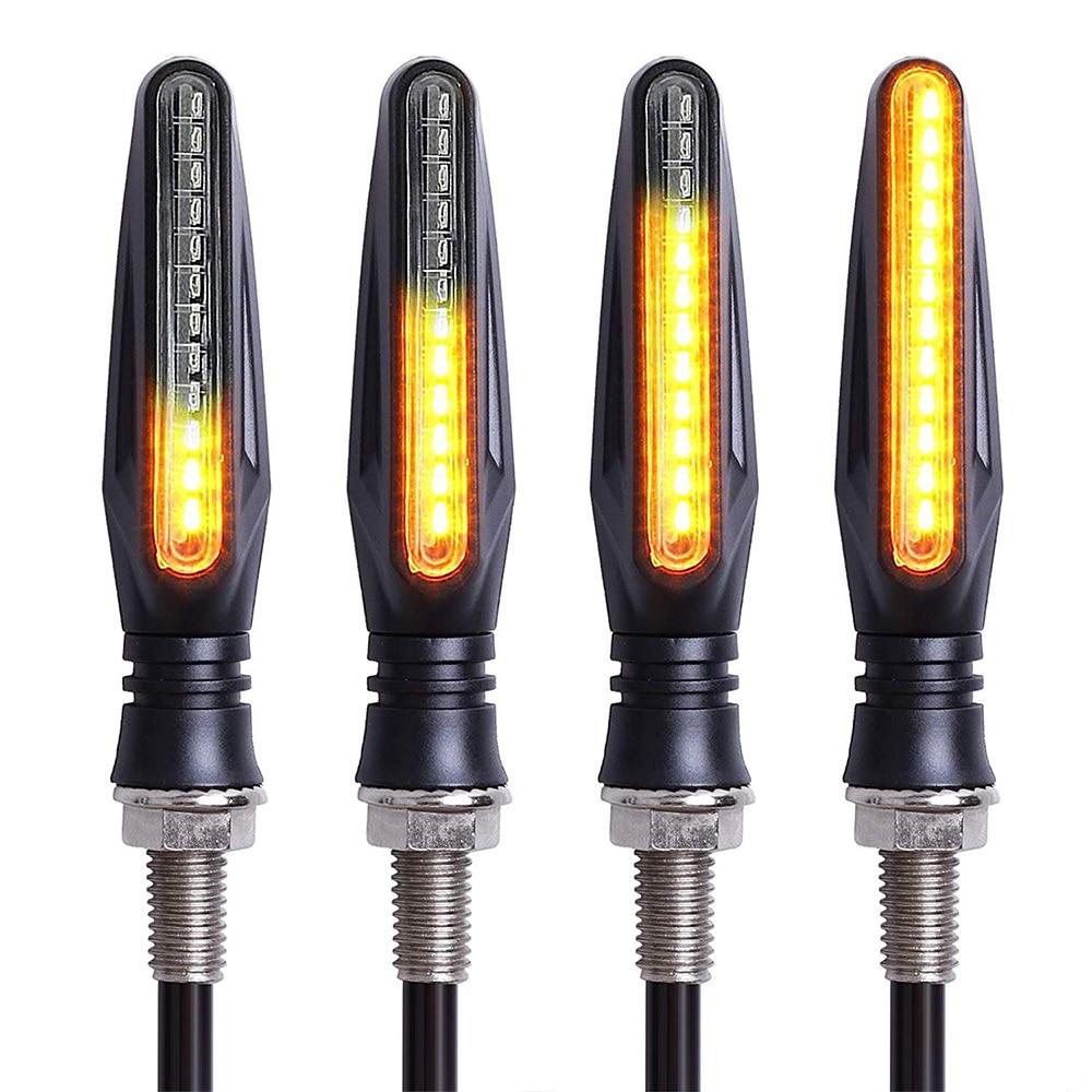 4Pcs 12V Amber Led Motorcycle Turn Signal Light Flasher Indicator Blinker For Yamaha Mt 07 Fz6 R3 Mt 09 R6 Nmax Xj6 Yzf R1 Fz