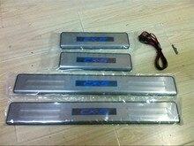 עבור מאזדה CX 5 CX5 2011 2012 2013 2014 2015 2016 LED נירוסטה לרכב דלת כיסוי מחוץ דלת אדן צלחת accessorie