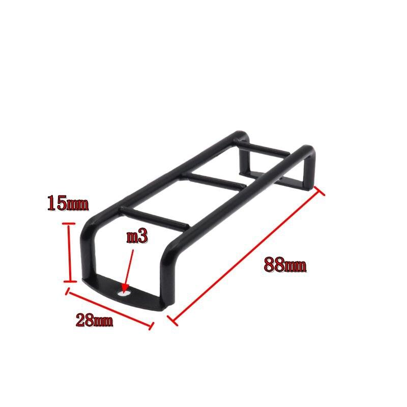 Купить с кэшбэком 2PCS RC Mini Metal Ladder Stairs Accessories for 1/10 RC Crawler Traxxas TRX4 TRX-4  Body SCX10 90046 90047 D90  D110