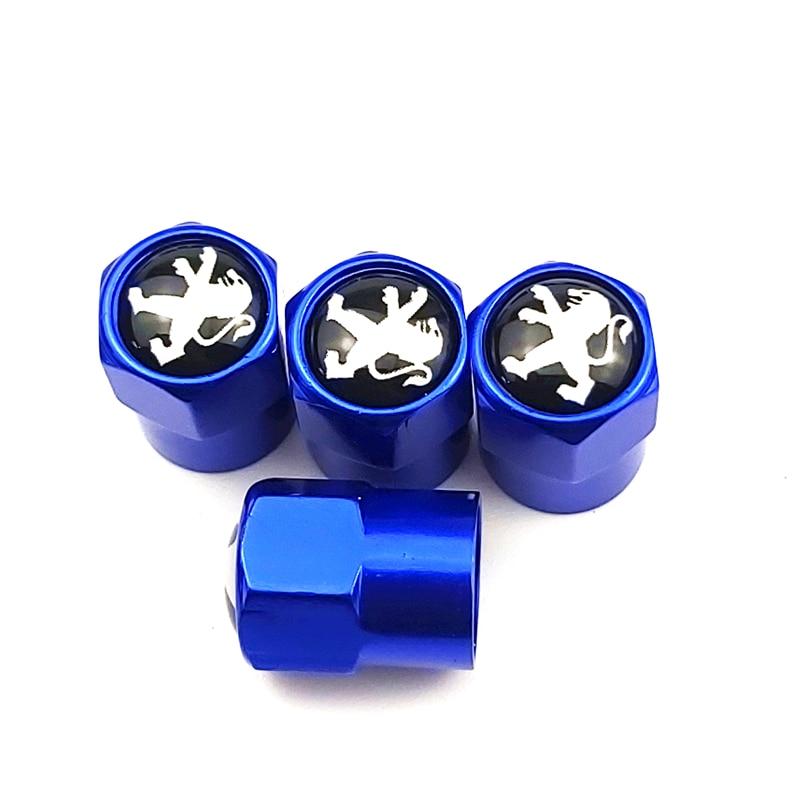 4PCS/set Auto Accessories Wheel Tire Parts Valve Stem Caps Cover For Peugeot 308 408 508 RCZ 208 3008 2008 Car Accessories