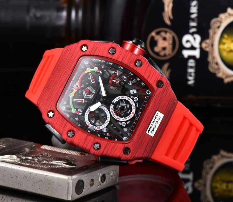 Silicone Man  Chronograph Mens Watches Luxury Top Brand Quartz Watch Blue Military Sports Wristwatch Relogios Clock