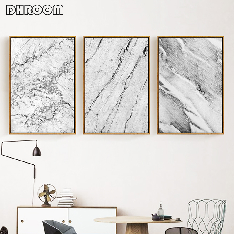 Marble Texture Canvas Prints Abstract Art Decorative Painting Canvas Painting Abstract Print Poster Picture Wall Home Decor
