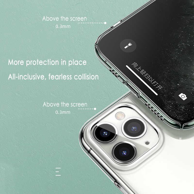 حافظة هاتف رفيعة للغاية لهاتف آيفون 11 7 حافظة من السيليكون الناعم لهاتف آيفون 11 برو XS Max X 8 7 6s Plus 5 SE 11 XR