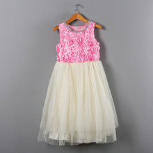 Pink and Beige Patchwork Party Dress 1st 2nd 3rd Birthday Easter Outfit Baby Girl Children's Clothes Toddler Girl Summer Dresses cute short pink and white flower girl dresses peter pan collar knee length baby girls summer dress 1st birthday outfit with bow