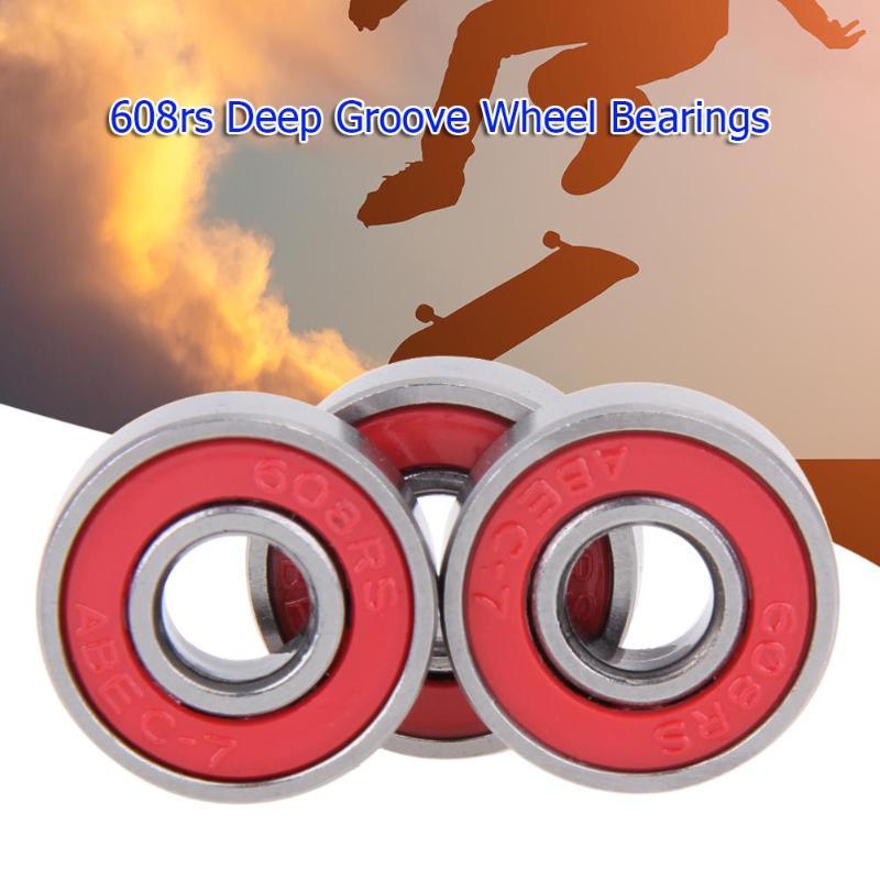 10 шт. 608rs глубокий паз стальные подшипники колеса скейтборд-скутер автомобильные валы