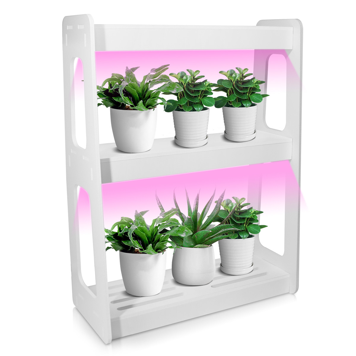 20W LED Full Spectrum High Efficiency Grow Lighting System Flowerpot Plant Shelf With Plant Lights Indoor Flower Rack US/EU