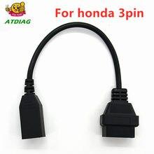 Heißer verkauf OBD 2 Kabel Für Honda 3pin OBD1 Adapter OBD2 OBDII für Honda 3 pin zu 16 pin Stecker freies schiff