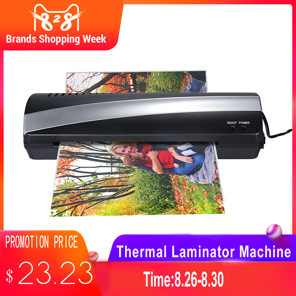 Photo-Paper Laminating Cold-Thermal-Laminator-Machine Two-Roller Fast And A4 3-5min 9-Speed-Jam-Release