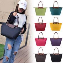 2021 mulheres bolsa de ombro moda mommy sacola de compras bolsa oxford pano praia dobrável sacos de armazenamento para feminino
