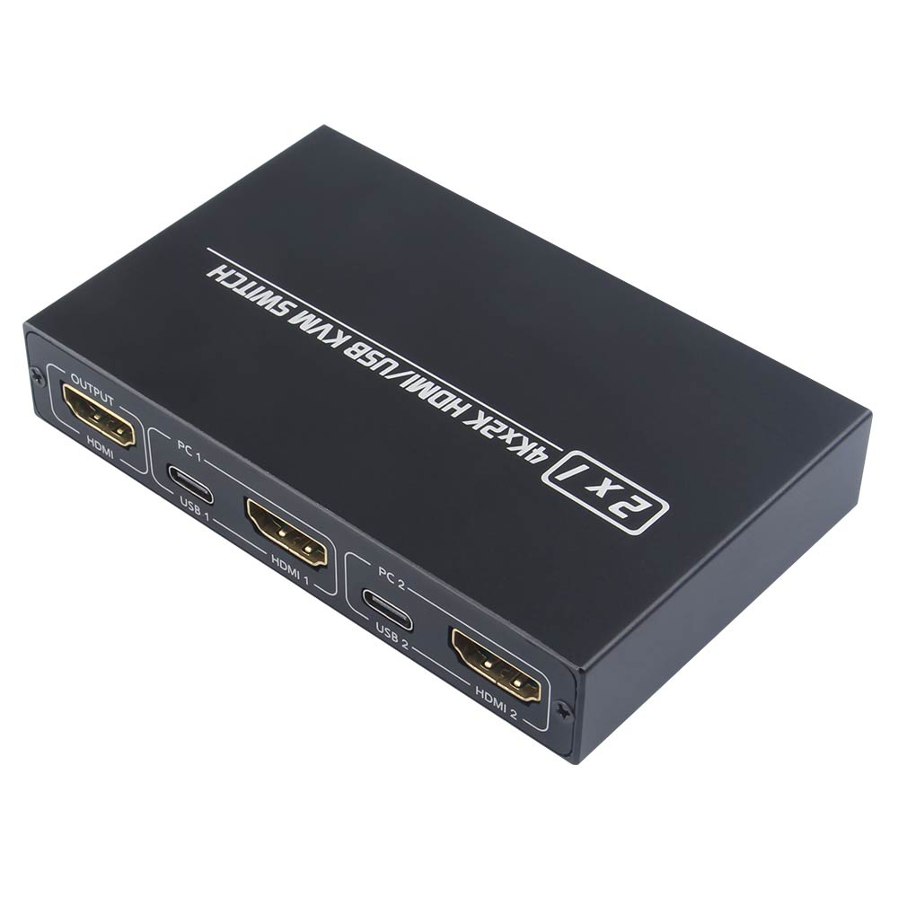 For Shared Monitor Keyboard And Mouse Adaptive EDID / HDCP Printer Plug And Play 2-Port HDMI USB KVM 4K Switch Splitter