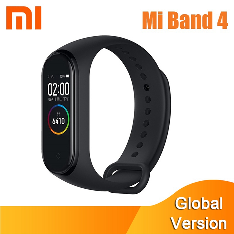 Globale Version Xiao <font><b>mi</b></font> <font><b>mi</b></font> <font><b>Band</b></font> <font><b>4</b></font> Smart Armband 3 Farbe AMOLED Bildschirm Herz Rate Fitness Bluetooth 5,0 Sport Waterpfoof armband image