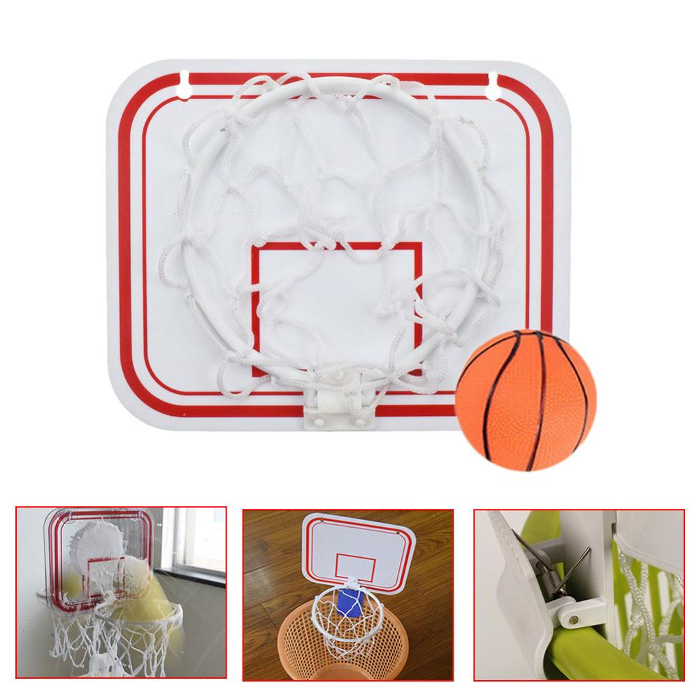 Well-Educated Indoor Basketball Hoop Set Shatterproof Backboard Mini Sports Punch Free Toy Rebounds Wall Hanging With Suction Cups Pump Comfortable Feel