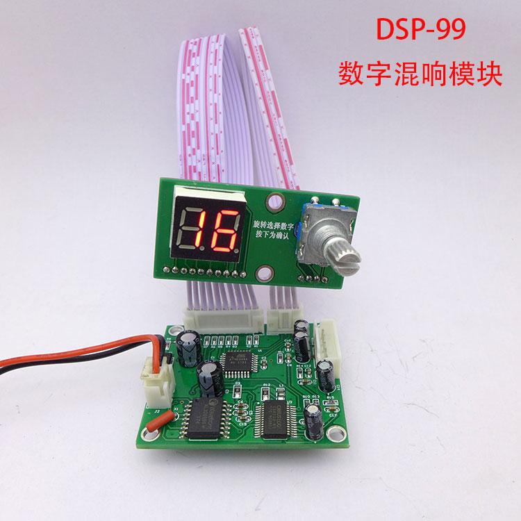 DSP Digital Reverb Module Karaoke Reverb Board Mixer Effect Module 0-99 100 Effects