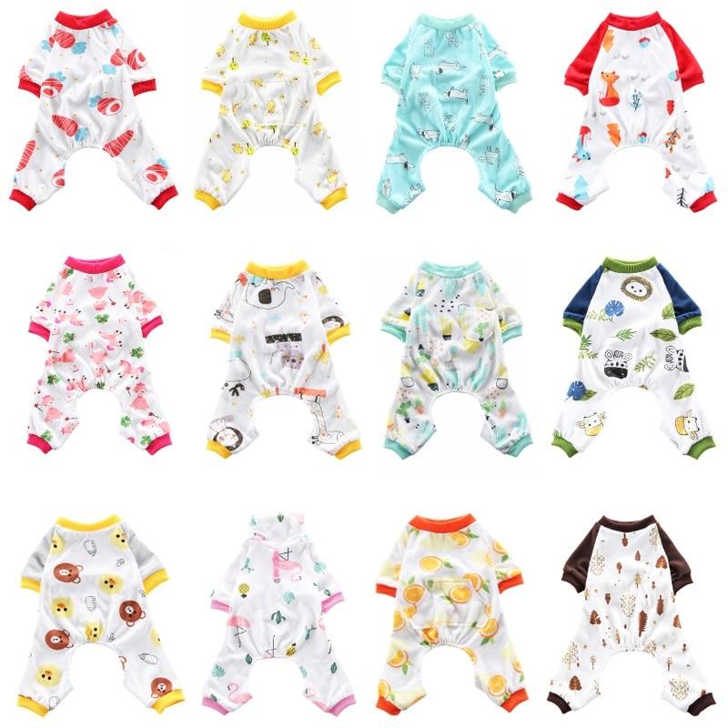 Dog Pajamas Pet Clothes For Small Dogs Cat Pyjama Dog Puppy Jumpsuit For Medium Dogs Sleepingwear Warm Clothing Coat Yorkshir 35