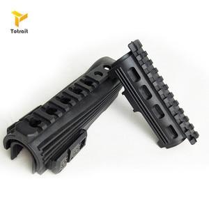Caliente negro AK 47 accesorios caza táctico tiro Airsoft Strikeforce de guardamanos superior inferior los rieles Picatinny