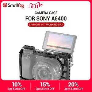 Image 1 - SmallRig A6400 Camera Cage for Sony Alpha A6300 / A6400 / A6500 / A6100 Camera w/ 1/4 3/8 Thread Holes for Vlog DIY Option 2310