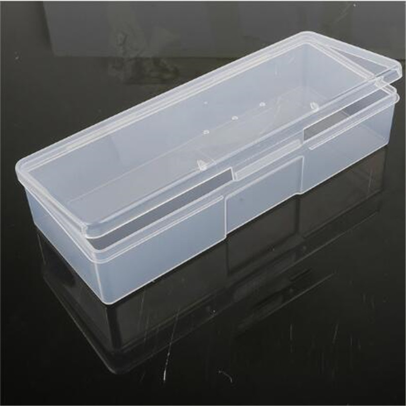 19.2x7.7x4cm Multi-Purpose Display Cabinet  Needlework Tools Small Storage Box Pink / Transparent Plastic Storage Box