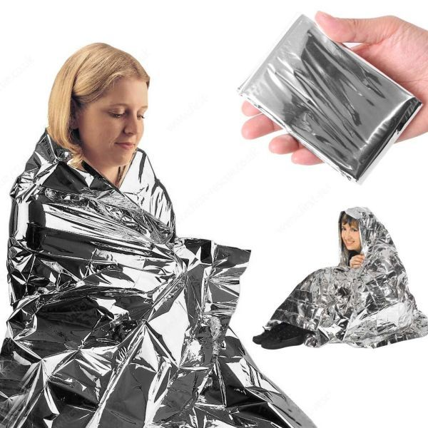 emergent blanket lifesave dry outdoor first aid survive thermal warm heat rescue mylar kit bushcraft treatment camp space foil(China)