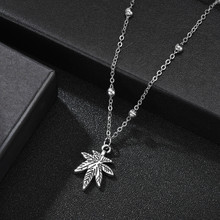 Vintage Style Leaf Heart Handmade Charm Necklace Korean Key Lock Hollow Pendant Necklace For Women Bohemian Wedding Jewelry(China)