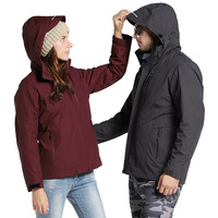 Winter Men Women 3 In 1 Jackets Outdoor Hiking Trekking Climbing Camping Clothes Keep Warm Male Waterproof Windproof Hooded Coat
