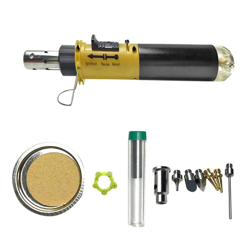 105 K 12 In 1 Gas Soldering Iron Cordless Welding Pen Butane Blow Torch Small Size Light Weight And Portable Repair Tool