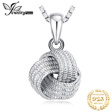 JewelryPalace Vintage Milgrain Love Knot Pendant Necklace Without Chain 925 Sterling Silver Fashion Jewelry Making
