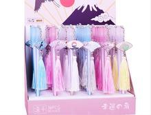 สวยเกาหลีแคคตัสดอกไม้เจลหมึกปากกาเครื่องเขียนรางวัล kawaii stydent ปากกาสำนักงานการเขียนปากกาสีดำปากกา 48 ชิ้น/ล็อต