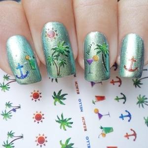 Image 5 - 1 sheet 7*6.5cm Snake Skin Water Decals Nail Art Water Slide Nail Sticker Paper Nail Slider DIY Nail Tips Decorations