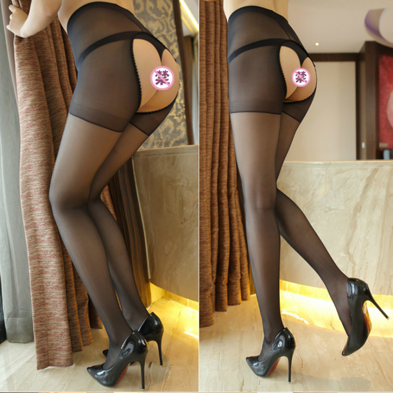 2020 High Quality Sexy Women Lace Tight Open Crotch Elastic Party Club Stockings Panty Hose Nylon Plus Size Mesh Pantyhose