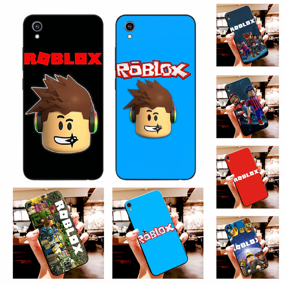 Nbdruicai Popular Game Roblox Cover Black Soft Shell Phone Case