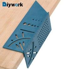 DIYWORK под углом 45 градусов и 90 градусов квадрат инструмент для измерения углов измерения линейка; Деревообработка Gauge Линейка 3D под углом измерения угла