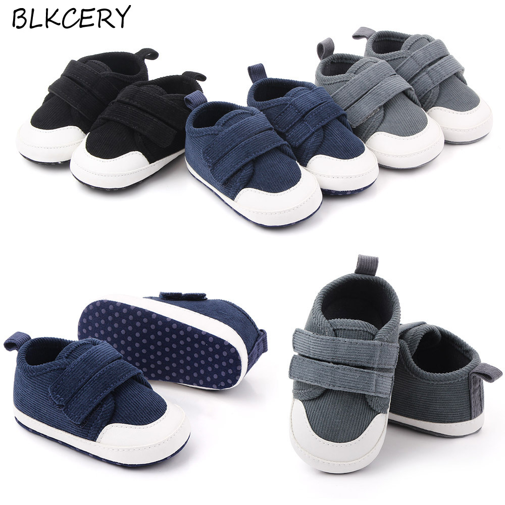 Brand Infant Baby Boys Shoes Cotton Anti-slip Sole Soft Newborn Toddler Crib Shoes Sneaker First Walkers Shoe For 1 Year Old Boy