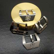 Watch-Accessories Stainless-Steel Suitable-For-Panerai Pin-Buckle Clasp 24mm Button Silver