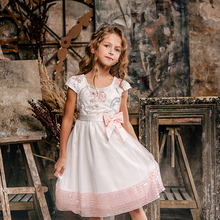 Bongawan Dresses for girls Ball Gown Flower Fashion Children Clothing 3-10 Years Cotton Birthday Party and Wendding