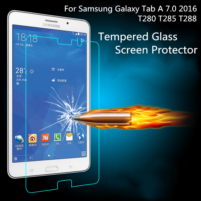 HD Tempered Glass For <font><b>Samsung</b></font> <font><b>Galaxy</b></font> <font><b>Tab</b></font> <font><b>A</b></font> <font><b>7.0</b></font> 2016 T280 T285 T288 <font><b>Screen</b></font> <font><b>Protector</b></font> Anti Shatter Tablet Protective Glass Film image