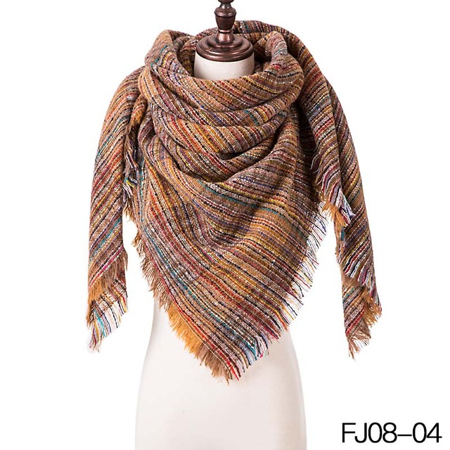 Woman Winter Scarf Knitted...