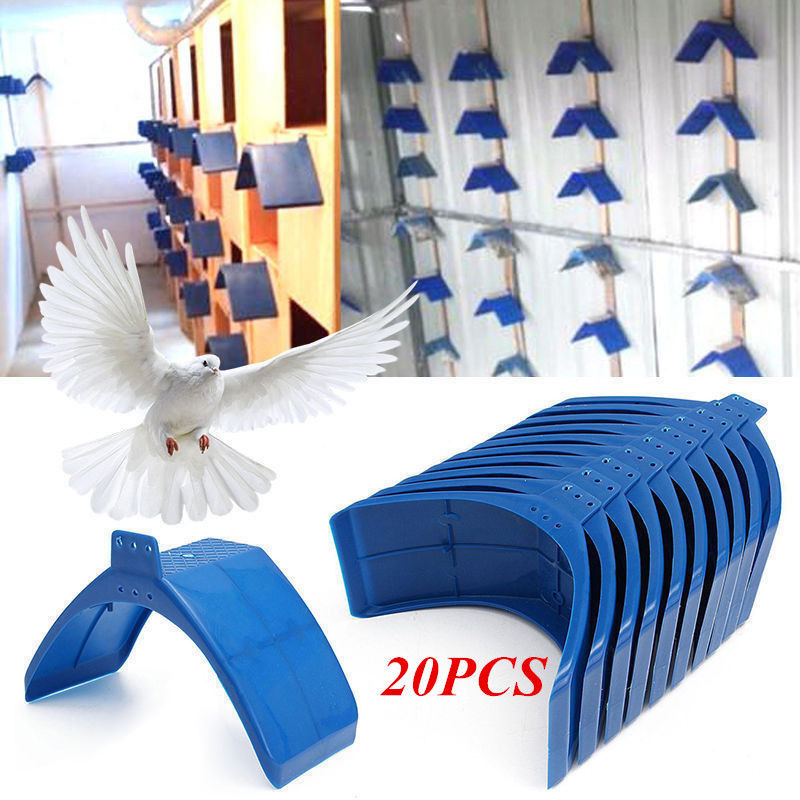 20PCS Plastic Blue Birds Dove Pigeon Rest Stand Frame Dwelling Roost Perches Roost 20*10*12cm