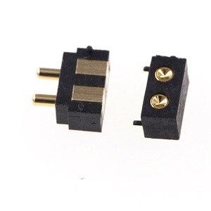 Image 1 - 50 шт. пружинный разъем Pogo pin, 2 контактный прямоугольный поверхностный монтаж SMD полоса, штекер, гнездо, вогнутый SMT шаг 2,5 мм