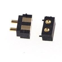 50 pcs Caricato A Molla Pogo pin connettore 2 PIN Ad Angolo Retto Montaggio Superficiale SMD Striscia Maschio Femmina di Destinazione Concavo SMT passo 2.5mm